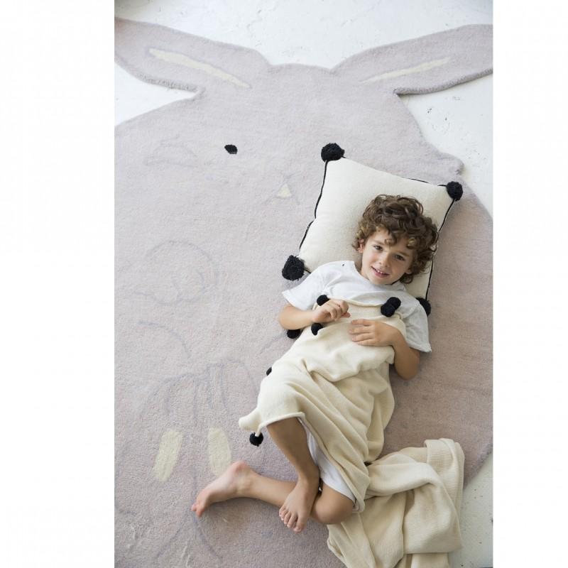 Grand tapis lapin en laine pour enfants for Tapis chambre d enfants