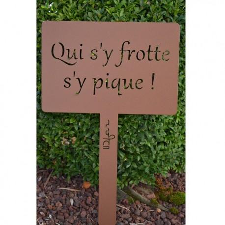 Etiquette plantes de jardin il est interdit de pi tiner - Etiquette jardin ...