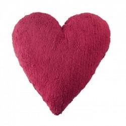 Coussin coeur Rose Fushia
