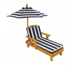 chaise longue de jardin avec parasol