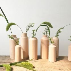 3 vases en bois