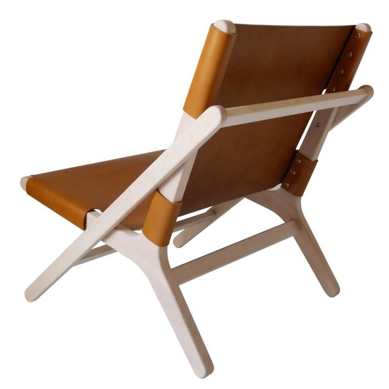 fauteuil transat en cuir noir. Black Bedroom Furniture Sets. Home Design Ideas