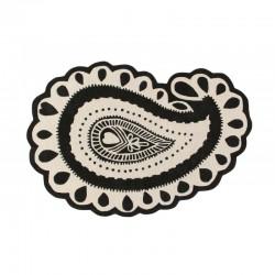 Tapis Paisley Noir & Blanc