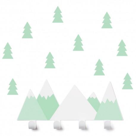 Porte manteaux Montagnes vertes